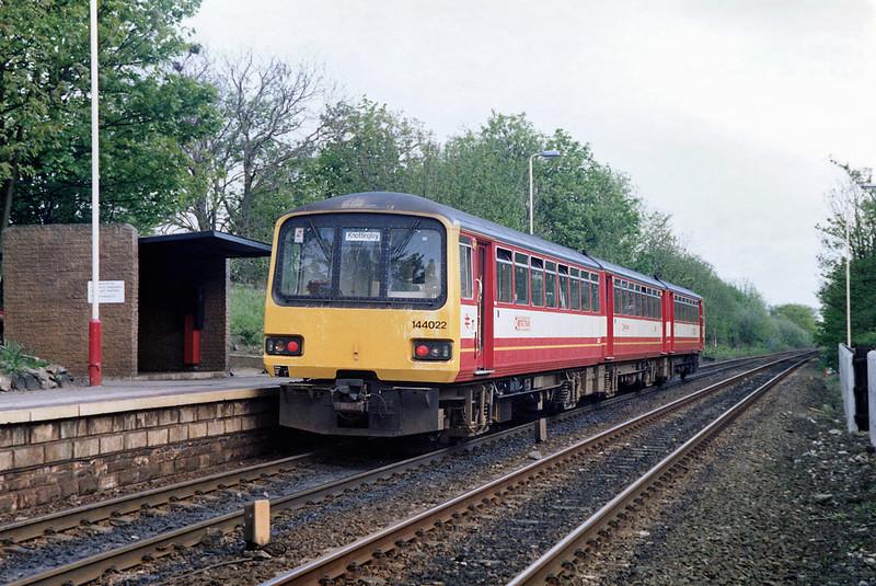 144022 Woodlesford 5/5/1992<br /> 1507 Leeds-Knottingley