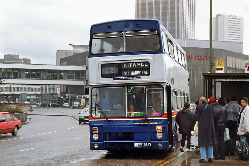 2526 POG526Y, Birmingham 7/3/1992