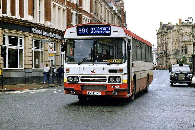 1701 A701HVT, Wolverhampton 7/3/1992