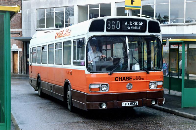 42 THX193S, Walsall 7/3/1992