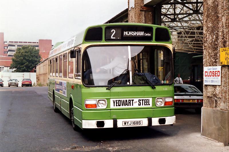 168 WYJ168S, Worthing 8/8/1992