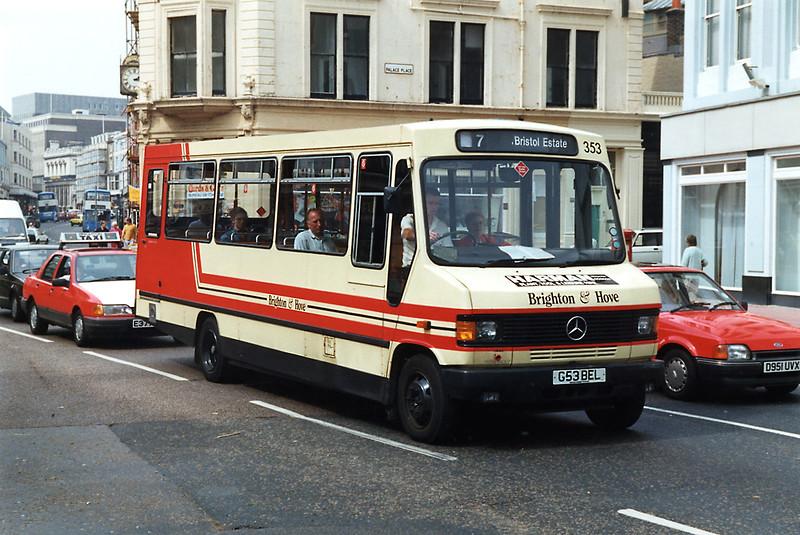 353 G53BEL, Brighton 9/8/1992