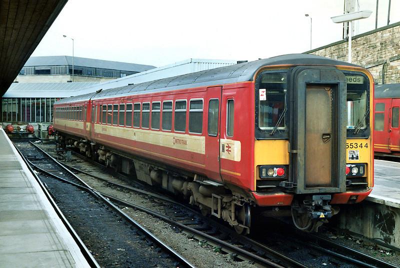 155344 Bradford Interchange 11/3/1992<br /> 1504 Halifax-Leeds