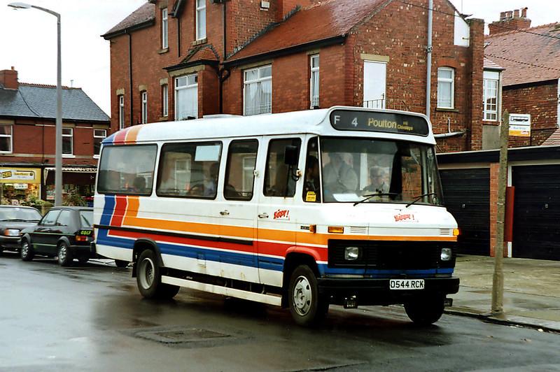 544 D544RCK, Fleetwood 13/4/1992