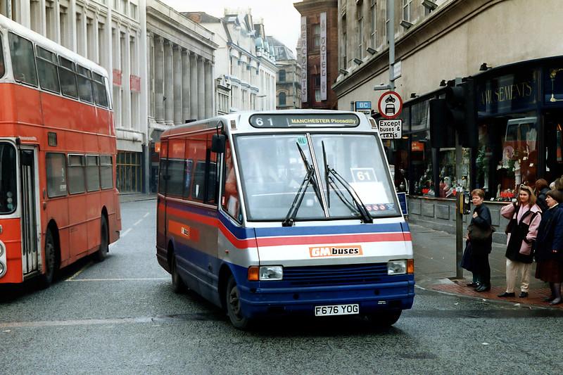676 F676YOG, Manchester 16/3/1992