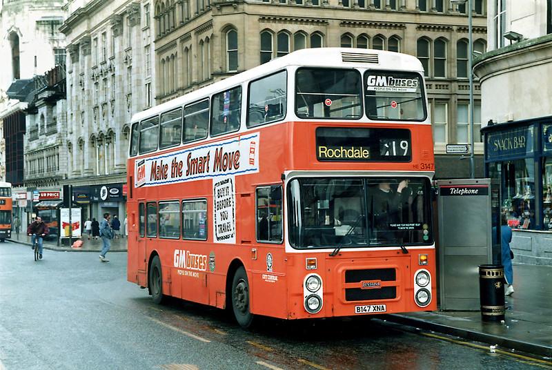 3147 B147XNA, Manchester 16/3/1992