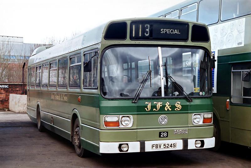 28 FBV524S, Leyland 21/2/1992