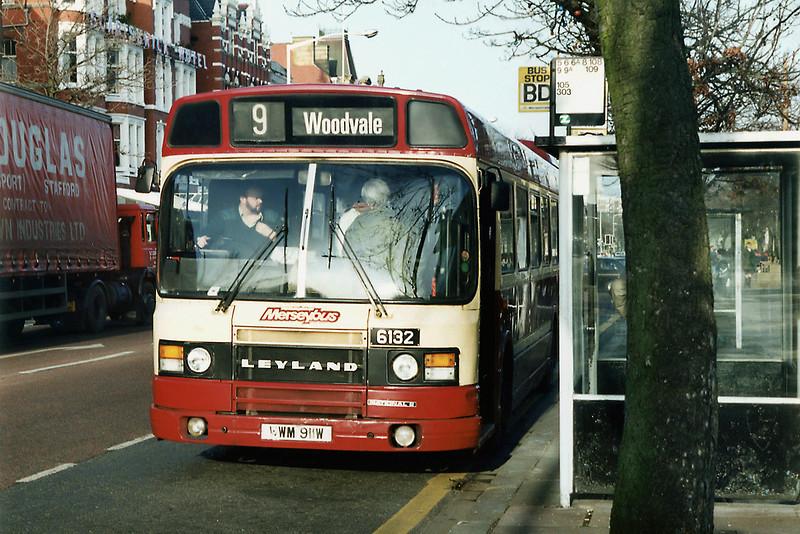 6132 WWM911W, Southport 21/2/1992