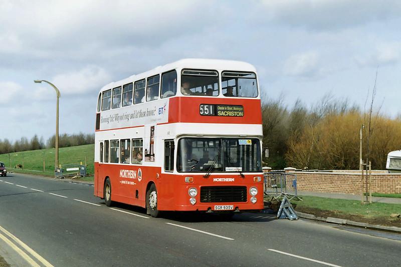 3435 SGR935V, Whiteleas 21/3/1992