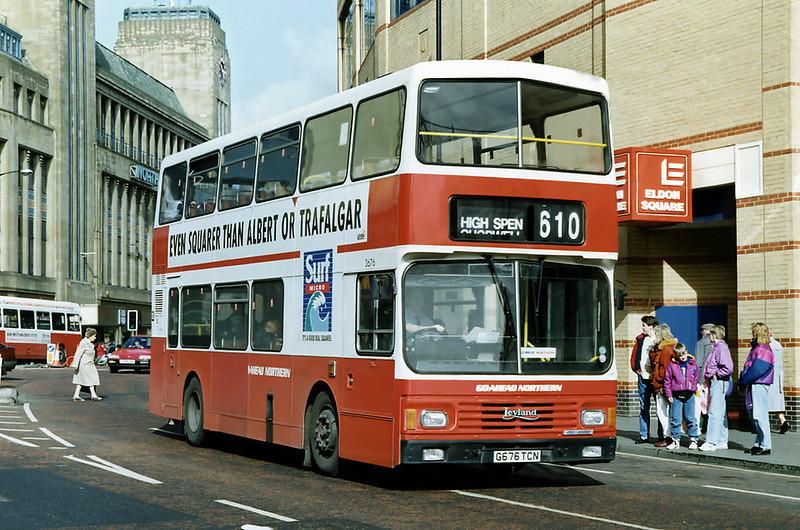 3676 G676TCN, Newcastle 21/3/1992