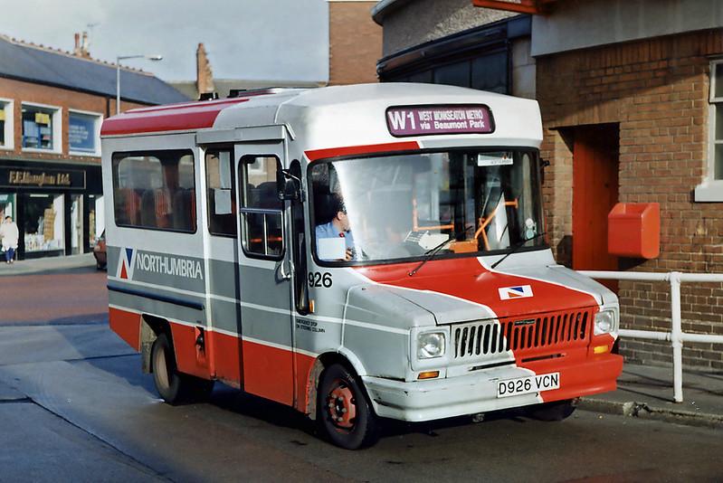 926 D926VCN, Whitley Bay 21/3/1992