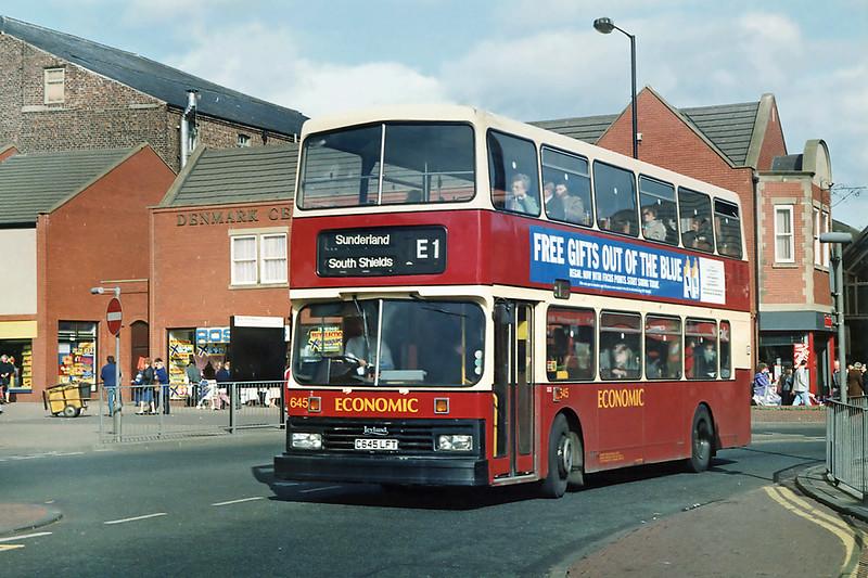 645 C645LFT, South Shields 21/3/1992