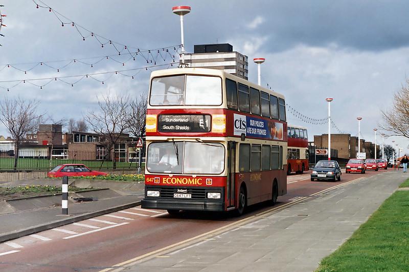 647 C647LFT, Sunderland 21/3/1992