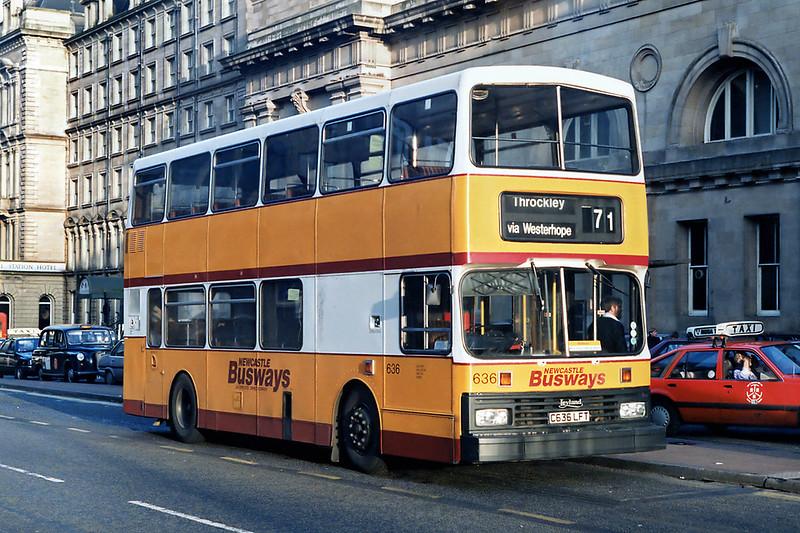 636 C636LFT, Newcastle 22/3/1992