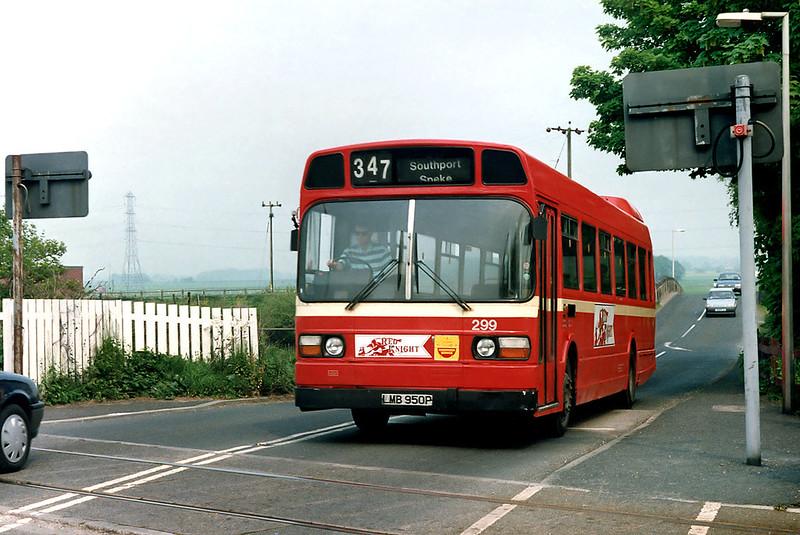 299 LMB950P, Rufford 22/5/1992