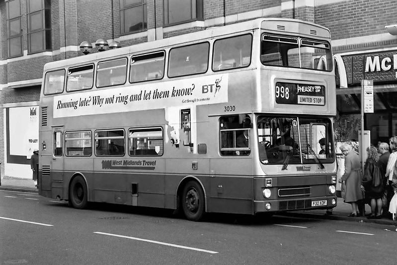 3030 F30XOF, Birmingham 25/2/1992
