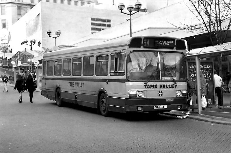 STJ34T, Birmingham 25/2/1992