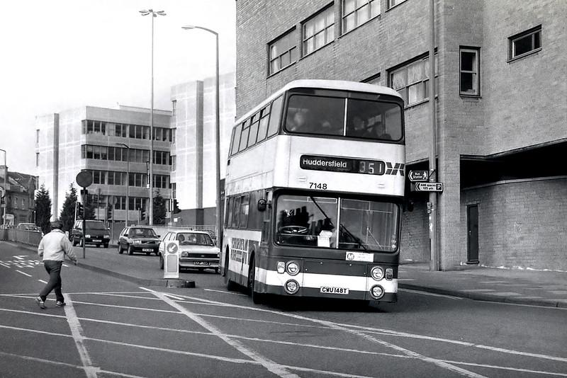 7148 CWU148T, Huddersfield 25/2/1992