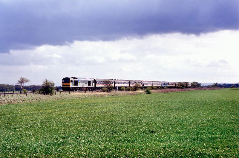 60095 Scarisbrick 25/4/1992<br /> 1T36 1030 Manchester Victoria-Manchester Victoria <br /> (via Southport)