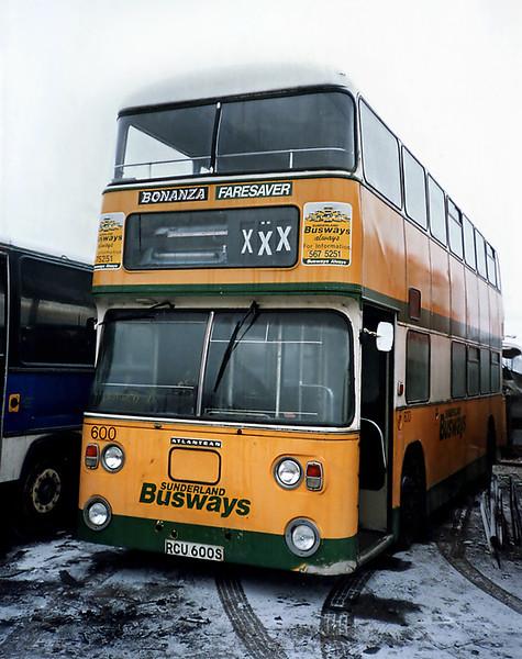 600 RCU600S, Sherburn-in-Elmet 29/1/1992