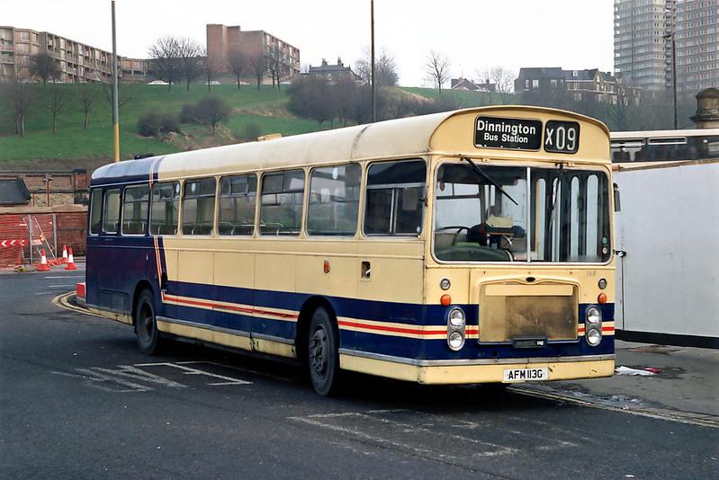 168 AFM113G, Sheffield 29/2/1992
