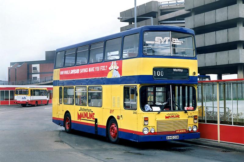 2440 B440CKW, Rotherham 29/2/1992