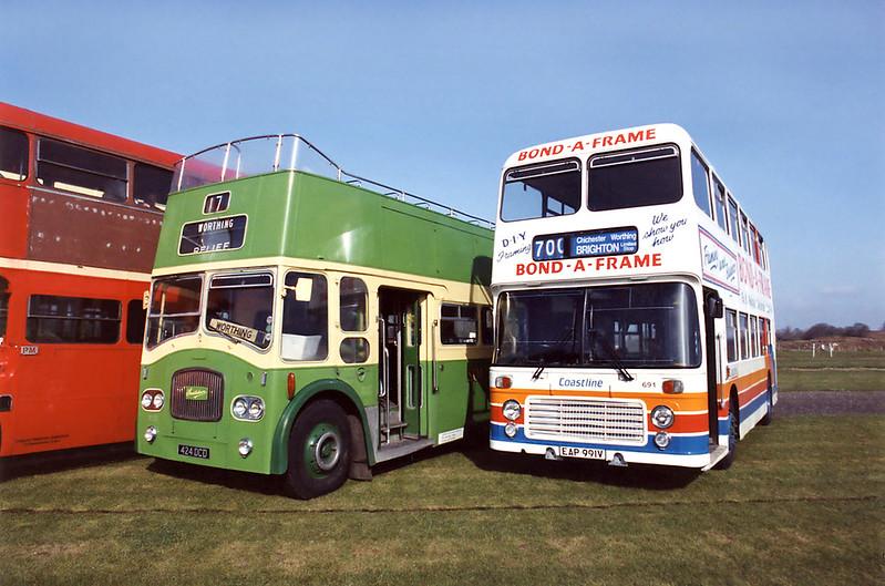 691 EAP991V and 3223 424DCD, Walton on Thames 4/4/1993
