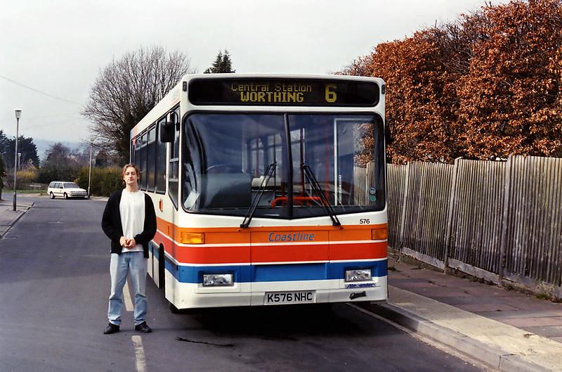 576 K576NHC, High Salvington 14/3/1993