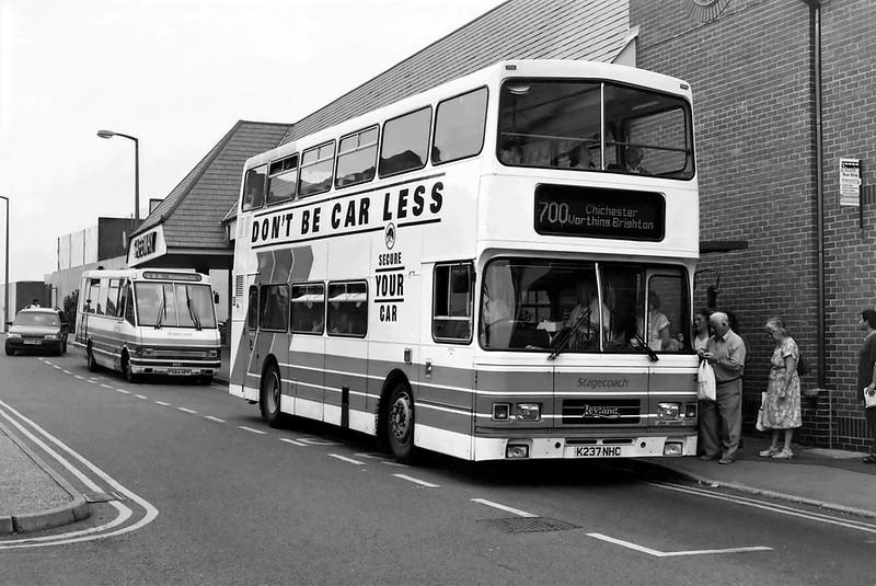 237 K237NHC and 2904 F564HPP, Littlehampton 13/7/1994