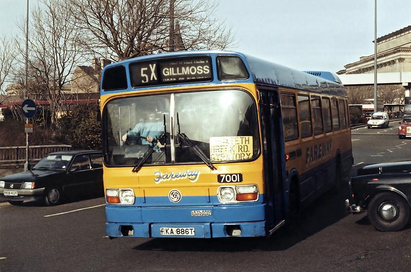 7001 RKA886T, Liverpool 17/3/1994