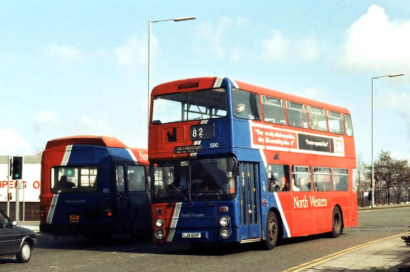 590 LJA601P, Garston 17/3/1994
