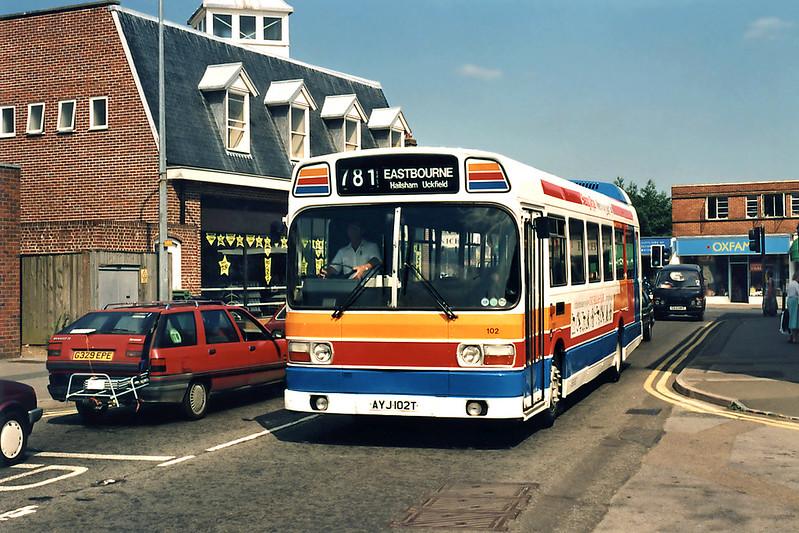102 AYJ102T, Uckfield 19/7/1994