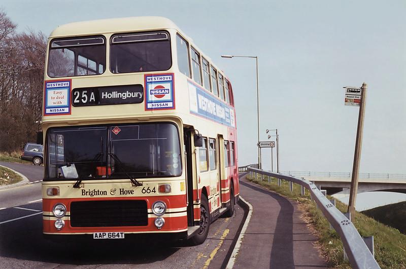 664 AAP664T, Hollingbury 20/4/1994