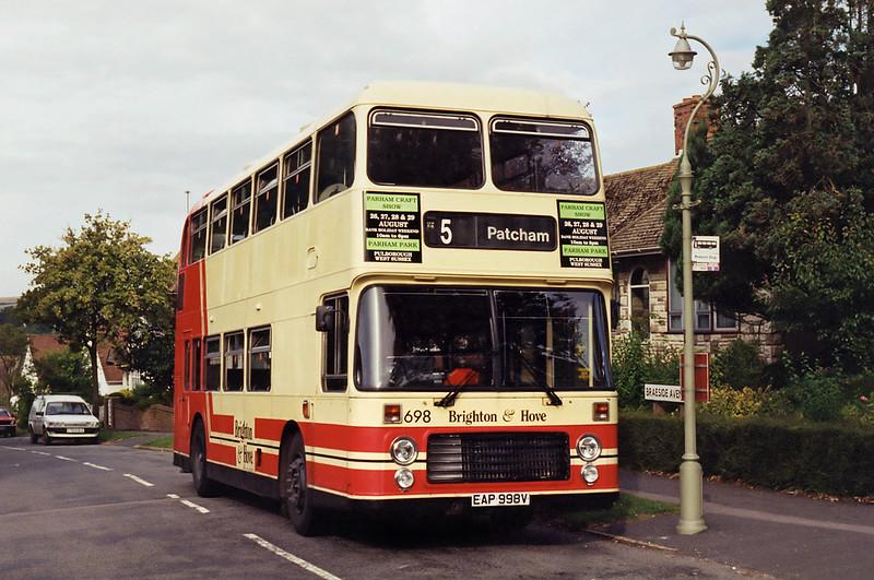 698 EAP998V, Patcham 29/8/1994