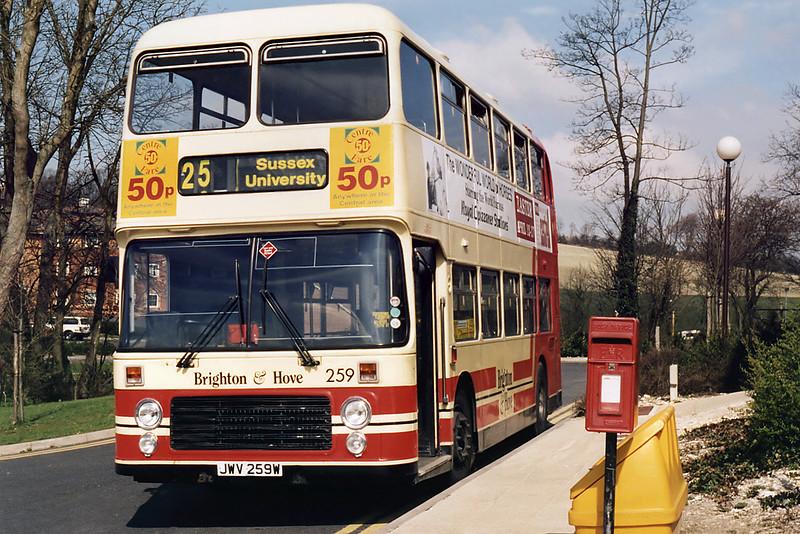 259 JWV259W, Sussex University 4/4/1995