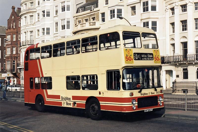 663 AAP663T, Brighton 4/4/1995