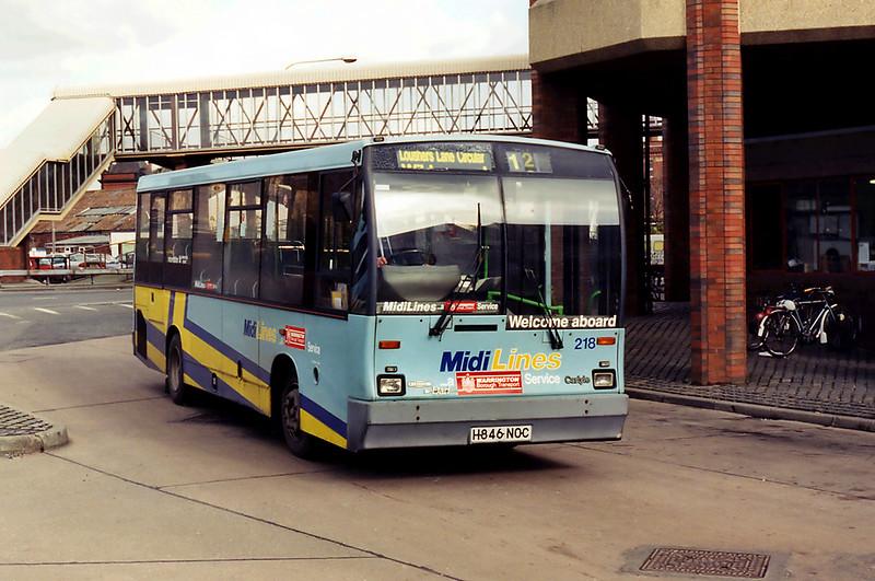 218 H846NOC, Warrington 7/3/1995