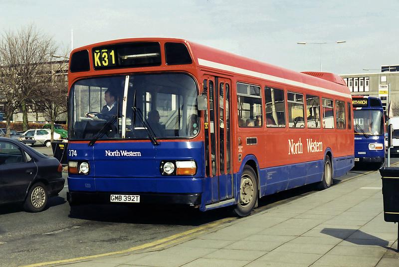 374 GMB392T, Northwich 7/3/1995
