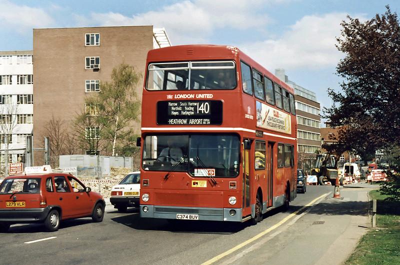 M1374 C374BUV, South Harrow 13/4/1995