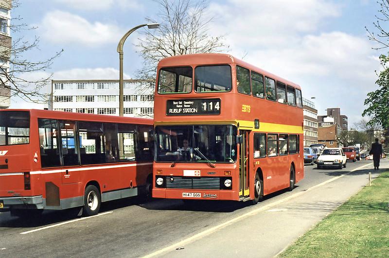 L147 H147GGS, South Harrow 13/4/1995
