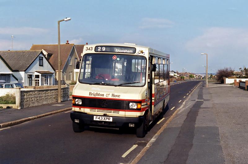 343 F43XPR, Shoreham Beach 19/4/1995