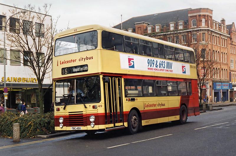 49 TBC49X, Leicester 22/11/1995