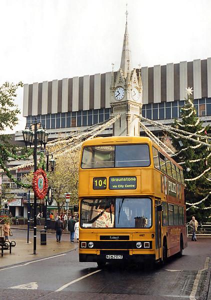 4457 ACM707X, Leicester 22/11/1995