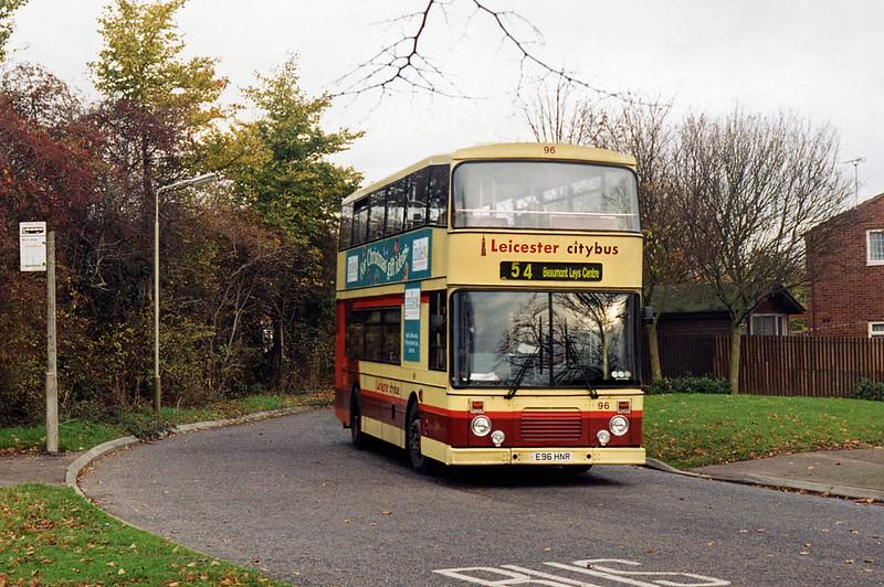 96 E96HNR, Beaumont Leys 22/11/1995