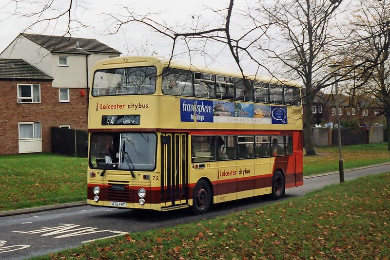 72 A72FRY, Beaumont Leys 22/11/1995