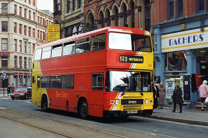 621 B965WRN, Manchester 24/2/1995