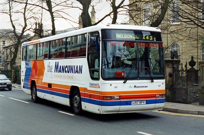 157 L157BFV, Rawtenstall 24/2/1995