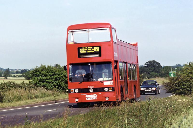 T512 KYV512X, North Weald 25/6/1995