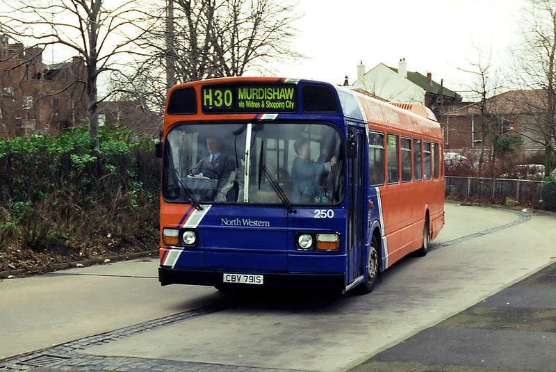 250 CBV791S, Runcorn High Street 28/2/1995