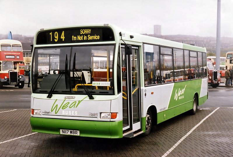 8117 N117WBR, Gateshead Metro Centre 12/5/1996